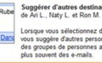 Gmail Labs -  Suggestion de destinataires d'email