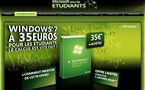 Windows 7 à 35 Euros pour les étudiants