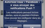 Facebook 3.1 iPhone - Notifications en push