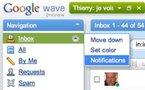 Google Wave - Notifications par email