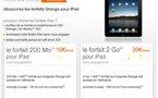 Les forfaits Orange pour l'iPad 3G