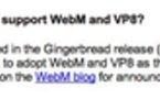 Android Gingerbread - Le futur Android pour WebM et VP8 avant fin 2010