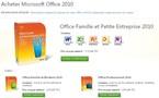 Microsoft Office 2010 est disponible à la vente