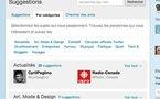 Nouveau sur Twitter - Services de Suggestions