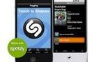 Shazam est désormais relié à Spotify