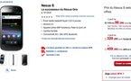 Nexus S blanc et noir disponible chez SFR