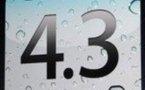 iOS 4.3 iPhone et iPad pour ce soir à 19h ?