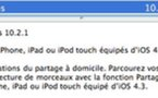 iTunes 10.2.1 pour iOS 4.3 disponible