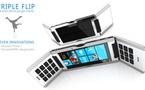 Concept mobile : Triple Flip Cell Phone