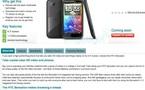 Le nouveau HTC Sensation leaké par Vodafone en images