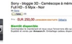 Sony Bloggie 3D bientôt disponible en France à 250 €