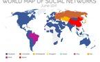 La mappemonde des réseaux sociaux - Domination de Facebook