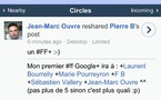 Google + fait son apparition sur la version mobile