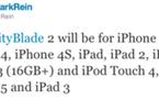 L'iPad 3 et l'iPhone 5 fuité par Epic Games ?