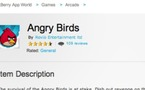 Angry Birds débarque sur Blackberry Playbook