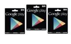 Les cartes cadeaux Google Play sont en vente