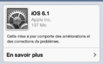iOS 6.1 est disponible pour iPhone, iPad et iPod Touch