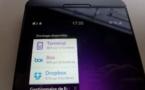 Gestion des espaces de stockage sous Blackberry 10 (Box offre 10 Go)